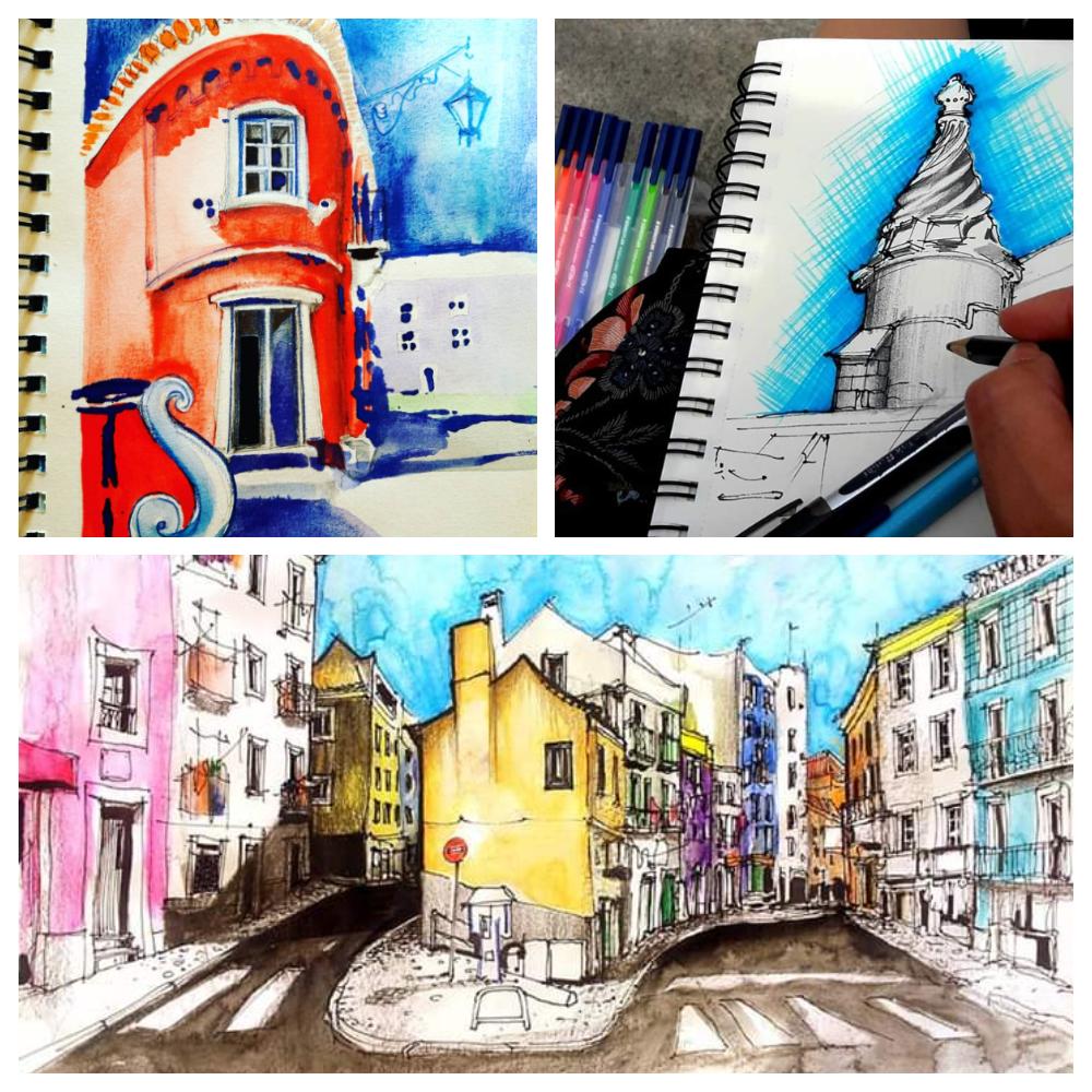 Imagem promocional do curso de Desenho para Diário Gráfico